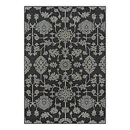 Momeni® Baja 1'8 x 3'7 Indoor/Outdoor Area Rug in Charcoal