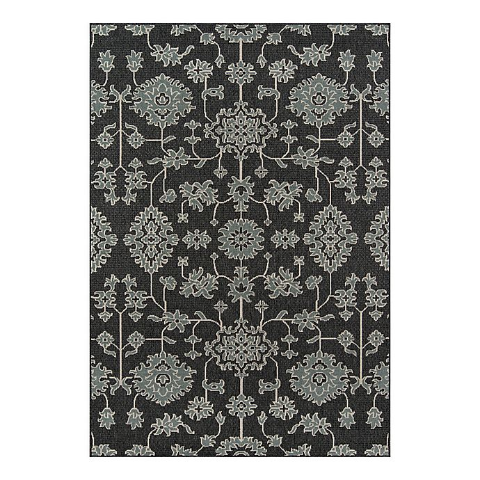 Alternate image 1 for Momeni® Baja 1'8 x 3'7 Indoor/Outdoor Area Rug in Charcoal