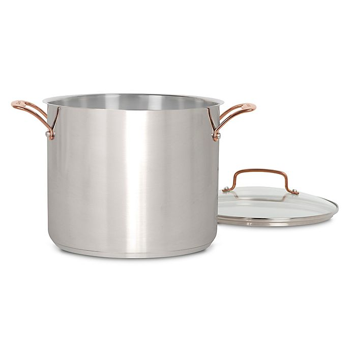 Alternate image 1 for Cuisinart® Minerals 12 qt. Stainless Steel Covered Stock Pot