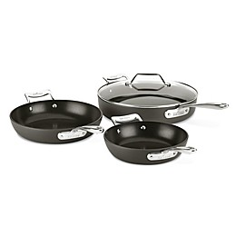 All-Clad Essentials Nonstick 4-Piece Hard-Anodized Skillet Set