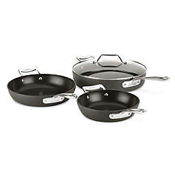 All-Clad Essentials Nonstick 7 qt. Stainless Steel 4-Piece Hard-Anodized Skillet Set