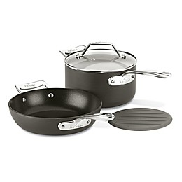 All-Clad Essentials Nonstick Hard-Anodized Small Fry and Saucepan Set