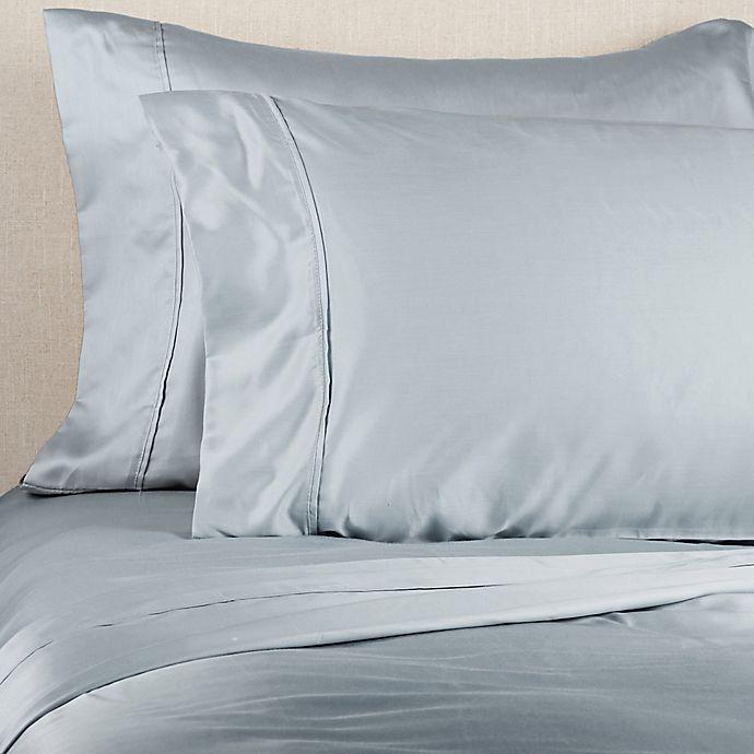 Alternate image 1 for Brookstone® BioSense™ 500-Thread-Count Lyocell King Sheet Set in Light Blue