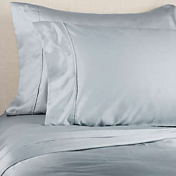 Brookstone® BioSense™ 500-Thread-Count Lyocell Queen Sheet Set in Light Blue