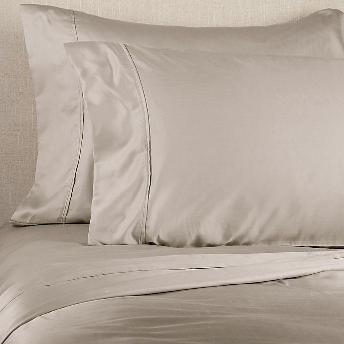 Alternate image 1 for Brookstone® BioSense™ 500-Thread-Count Lyocell King Sheet Set in Khaki