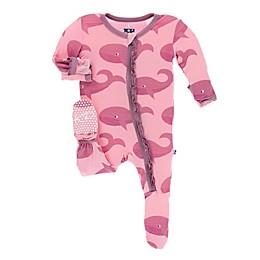 Kickee Pants® Lotus Whale Ruffle Footie in Pink