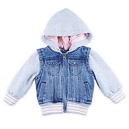 Urban Republic Denim Jersey Hooded Jacket