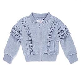 Urban Republic Ruffle Toddler Bomber Jacket in Grey