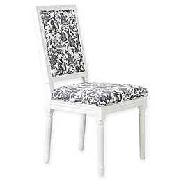 One Kings Lane™ Open House Calais Side Chairs in Onyx Toile (Set of 2)