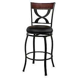 Hillsdale Stockport Swivel Counter Stool in Pewter