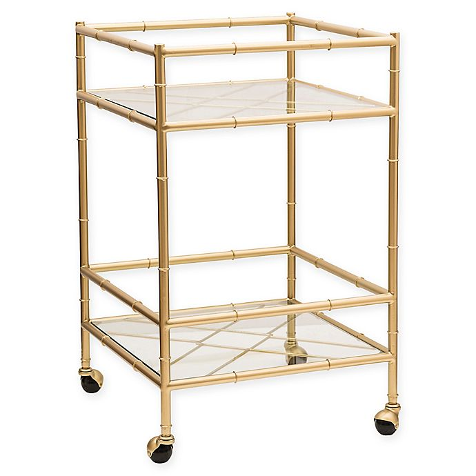 Alternate image 1 for One Kings Lane™ Open House Huntley Bar Cart in Aged Gold