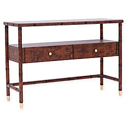 One Kings Lane™ Open House Huntley Console Table in Tortoise Shell/Aged Gold