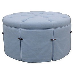 One Kings Lane™ Open House Felicity Round Skirted Ottoman