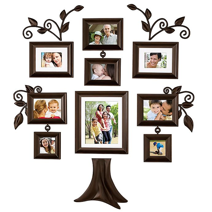 Alternate image 1 for Wallverbs™ Family Tree 9-Piece Family Tree Collection