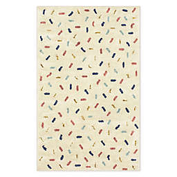 Marmalade Sprinkles 5' x 7' Area Rug in Cream