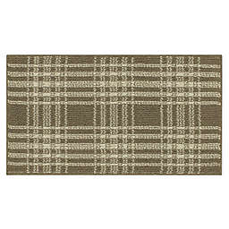 Bee & Willow™ Home Plaid 1'8 x 2'10 Accent Rug in Tan/Cream