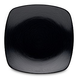 Noritake® Black on Black Swirl Square Dinner Plate