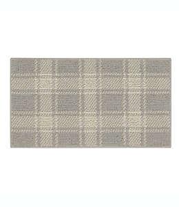 Tapete decorativo de poliéster Bee & Willow™ Home a cuadros, 50.8 x 86.36 cm color crema/gris