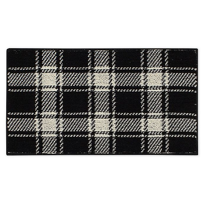 Alternate image 1 for Bee & Willow™ Plaid 1'8 x 2'10 Accent Rug in Black/Cream