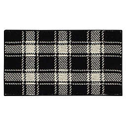 Bee & Willow™ Plaid 1'8 x 2'10 Accent Rug in Black/Cream