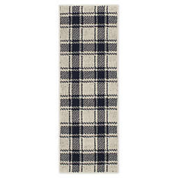 "Bee & Willow™ Home Plaid 1'8 x 4'6"" Runner in Cream/Navy"