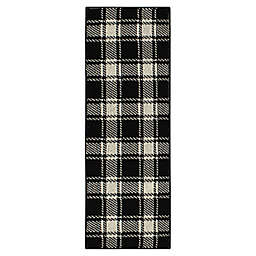 Bee & Willow™ Home Plaid 1'8 x 4'6 Runner in Black/Cream