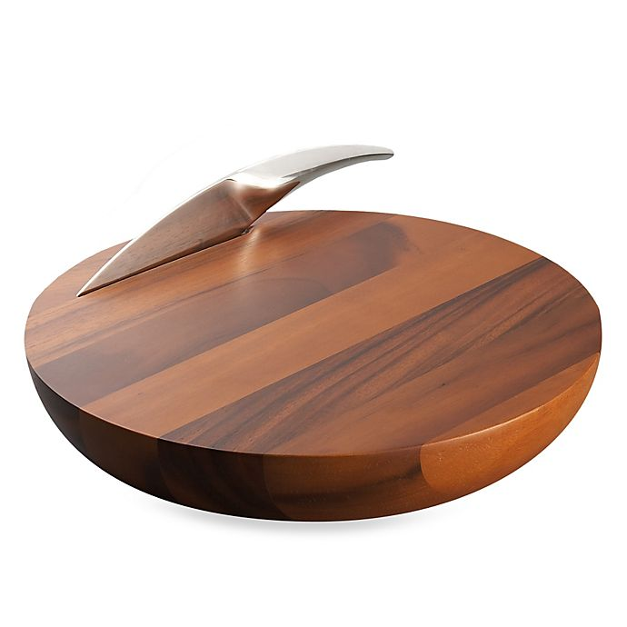Alternate image 1 for Nambe Harmony Cheese Board with Knife