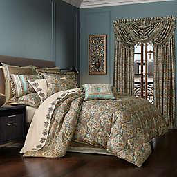 J. Queen New York Victoria 4-Piece Queen Comforter Set in Turquoise