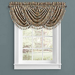 J. Queen New York Victoria Waterfall Window Valance in Turquoise