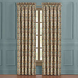J. Queen New York Victoria 84-Inch Waterfall Window Curtain Panel Pair in Turquoise