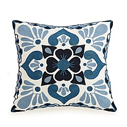 Jessica Simpson Aziza Square Throw Pillow in Blue
