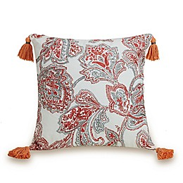 Jessica Simpson Coral Gables Square Throw Pillow in Coral