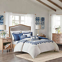 Madison Park Signature Indigo Sky Oversized 8-Piece Comforter Set