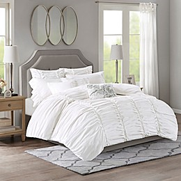 Madison Park Signature Gardenia Oversized Duvet Style Cotton 8-Piece Comforter Set