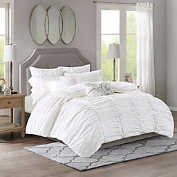 Madison Park Signature Gardenia Oversized Duvet Style Cotton 8-Piece Comforter Set