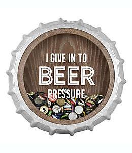 """Contenedor para corcholatas decorativo """"I Give into Beer Pressure"""", 38.73 cm"""