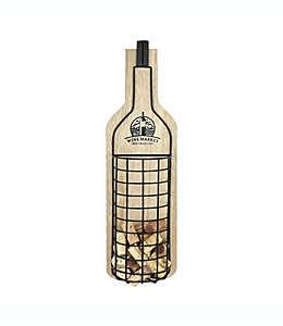 """Contenedor para corchos decorativo """"Wine Market"""", 50.8 x 14.93 cm"""