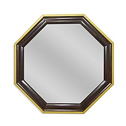 PTM Images® Aria 26-Inch Hexagon Wall Mirror in Natural Wood