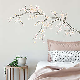 RoomMates® Cherry Blossom Branch Peel and Stick Giant Wall Decals with 3D Embellishments