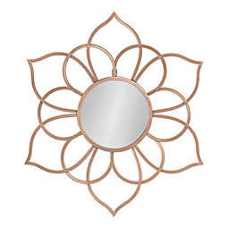 Kate and Laurel™ Brienne 24-Inch x 21-Inch Flower Wall Mirror in Rose Gold