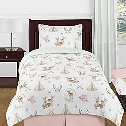 Sweet Jojo Designs® Deer Floral Bedding Set in Green/Brown