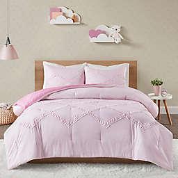 Felicity Percale Weave Full/Queen Comforter Set in Pink
