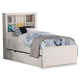 Hillsdale Kids and Teen Highlands Bookcase Bed with Trundle in White