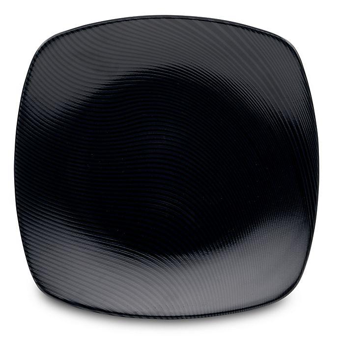 Alternate image 1 for Noritake® Black on Black Dune Square Dinner Plate