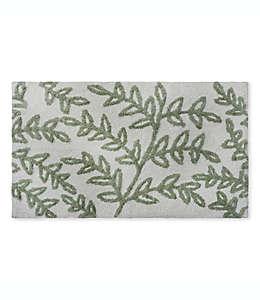 Tapete para baño Bee & Willow™ Home con diseño floral de 53.34 x 86.36 cm en verde/blanco