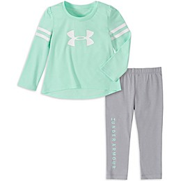 Under Armour® 2-Piece Varsity Top and Legging Set in Aqua