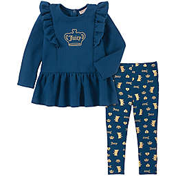 Juicy Couture® 2-Piece Crown Tunic and Legging Set in Navy