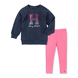 Tommy Hilfiger® 2-Piece Shine Fleece Top and Legging Set in Navy
