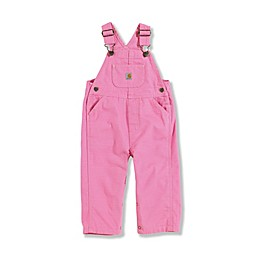 Carhartt® Infant/Toddler Washed Bib Overalls in Pink