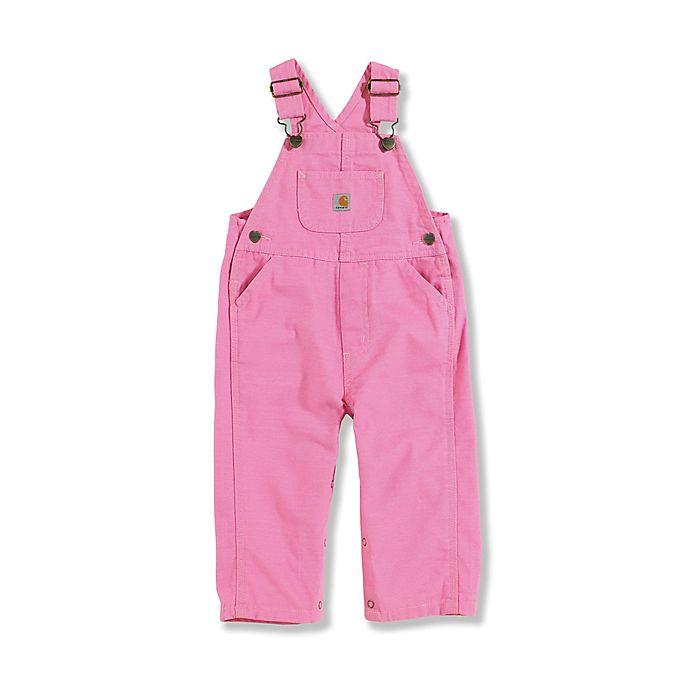 Alternate image 1 for Carhartt® Infant/Toddler Washed Bib Overalls in Pink